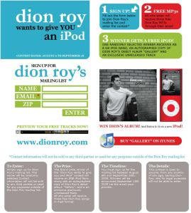 dion roy ipod contest